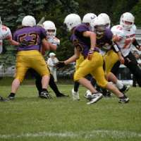 The Huronia Stallions Varsity Football team lost a close 24-21 decision to the Twin City Predators to fall to 0-2 on the season